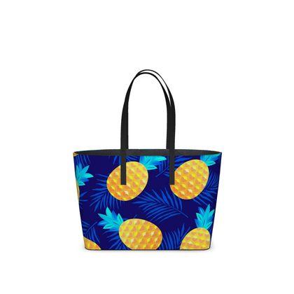 pineapple fun kika tote bag