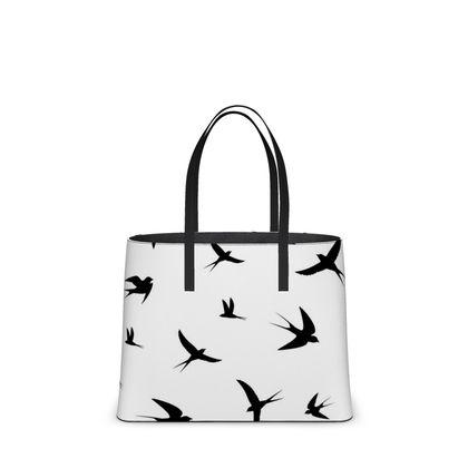 minimal birds kika tote bag