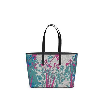 Kabukis Garden Collection (Teal/Pink) - luxury Kika Tote Bag