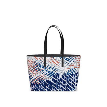 Threads Collection (Blue) - luxury Kika Tote bag