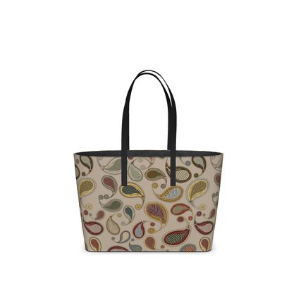 Paisley Heritage Collection (Parchment) - Luxury Kika Tote