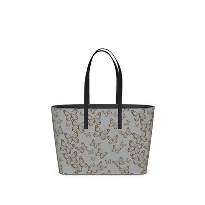 Wisteria Butterfly Collection (Gold) - Luxury Kika Tote Bag
