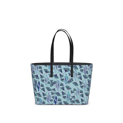 Humming Bird Collection (Blue) - Luxury Kika Tote Bag