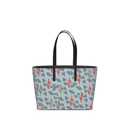 Humming Bird Collection (Aqua) - Luxury Kika Tote Bag