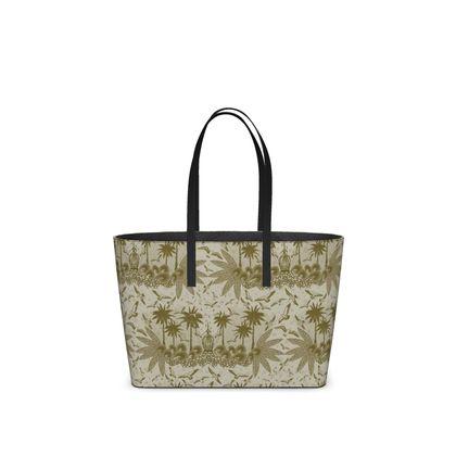 Singing Bird Collection - Sand - Luxury Kika Tote Bag
