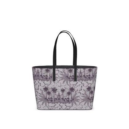 Singing Bird Collection - Plum - Luxury Kika Tote Bag