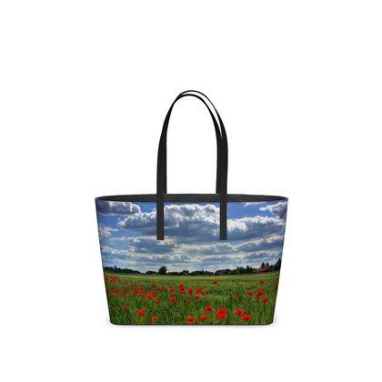 Tote Hand Bag, Poppie Field
