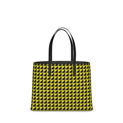 One of a kind Yellow & Black Kitten Tote