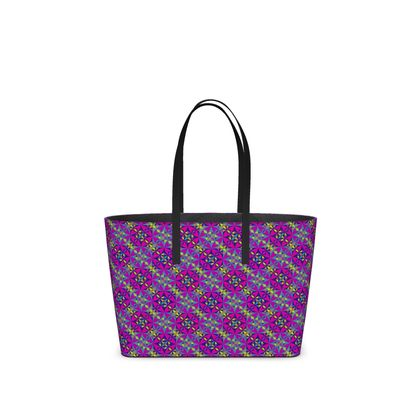 Kika Tote Arabesque Purple Pattern