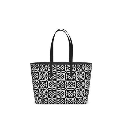 Kika Tote Black White Tile
