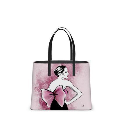 Pink Bow Tote Bag