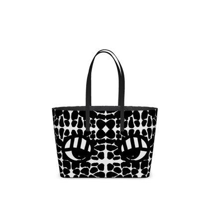 Monster pet Kika Tote Bag, Black and White.