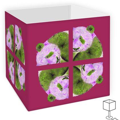 Purple Panda Design Square Lamp Shade