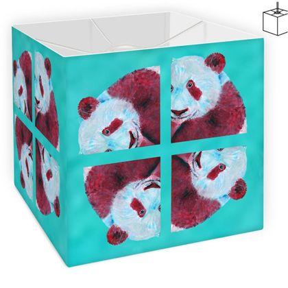 Turquoise Panda Square Lampshade