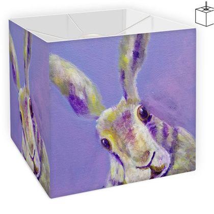 Purple Hare Square Lampshade