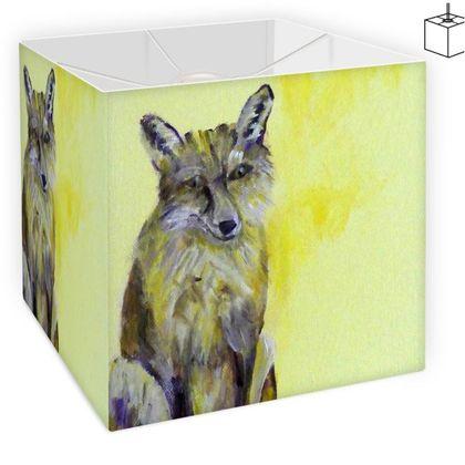 Yellow Fox Square Lampshade