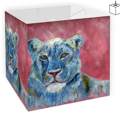 Blue Lion Square Lampshade