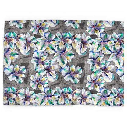 Alstroemeria printed tea towel