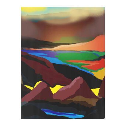 Double Deckchair - Vivid Sunset