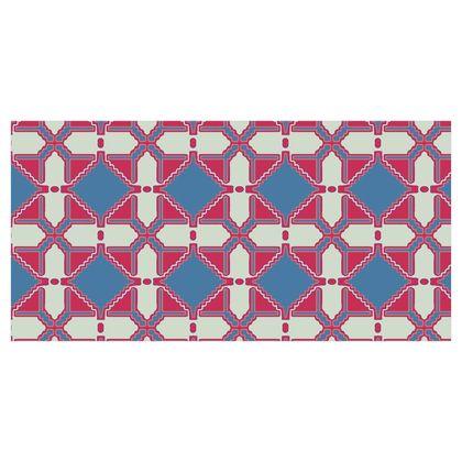 Fabric Printing Geometric Tile Pattern