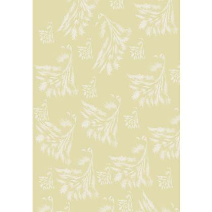 Cream Feathery Delux Maxi Dress