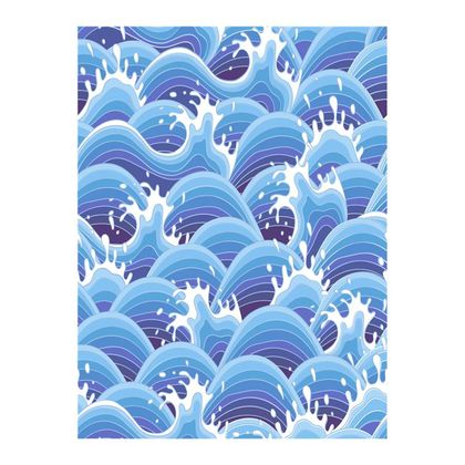 Double Deckchair - Blue Waves