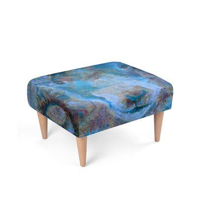 Blue Ram Footstool