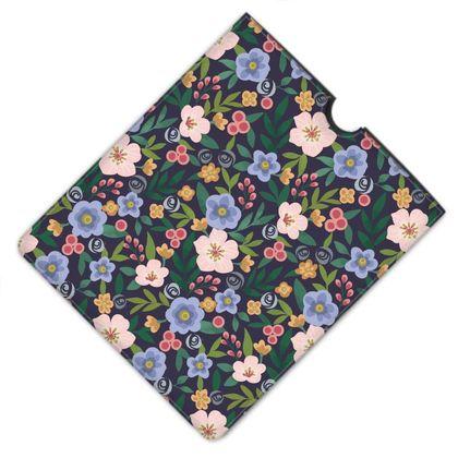 Leather IPad Case, Flourishing Florals