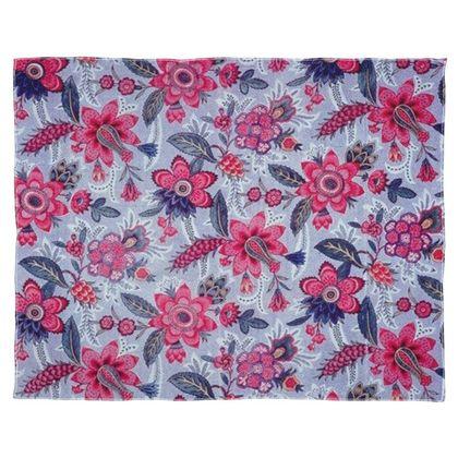Scarf, Wrap or Shawl Grey Vintage Floral Print