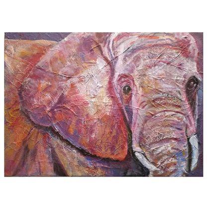 Pink Elephant Folding Stool Chair