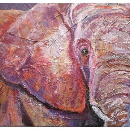 Ultraviolet Elephant Luxury Cushion