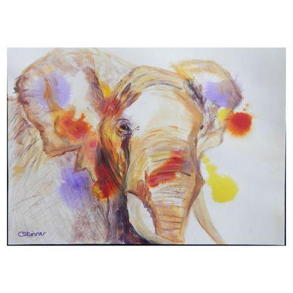 African Elephant Folding Stool Chair