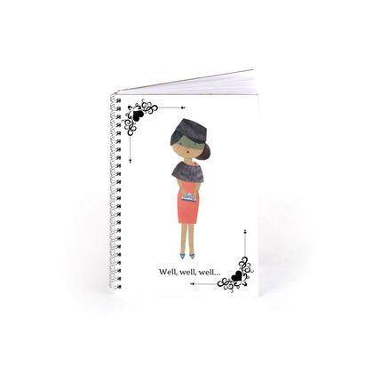 Cherry Chymes White Spiral Notebook