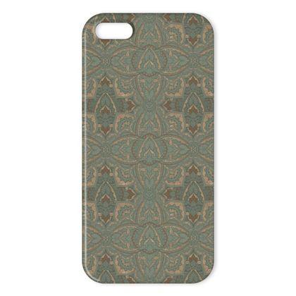Art deco vintage green & Gold - Iphone case