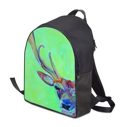 Green and Red Stag Backpack