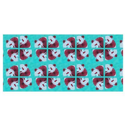 Panda Pattern Folding Stool Chair