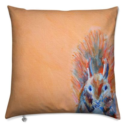 Red Squirrel Luxury Cushion