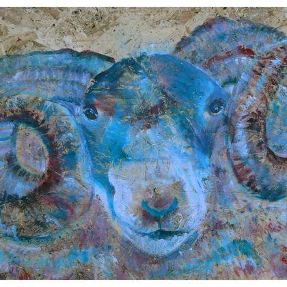 Blue Ram Luxury Cushion