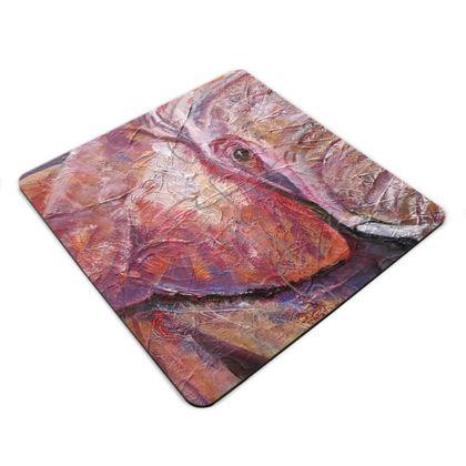 Ultraviolet Elephant Jigsaw Coasters