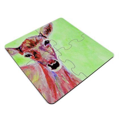 Deer Jigsaw Coasters