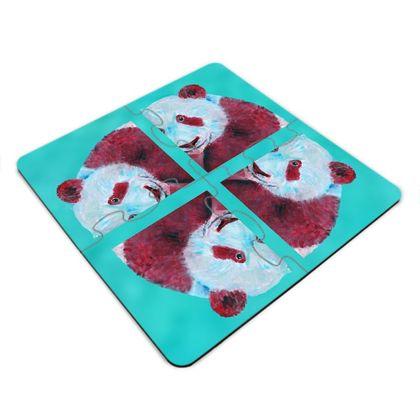Panda Jigsaw Coasters