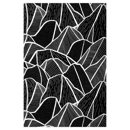 Fabric Printing - On The Rocks
