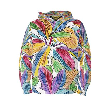 PATTERNS ON POINT PLANTS OF THE CARIBBEAN TROPICAL  HOODIE