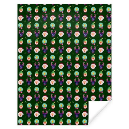 Illustrated Christmas Characters Gift Wrap