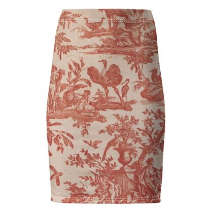 Pencil Skirt Four Parts of the World