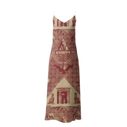 Silk Slip Dress The Monuments of Egypt