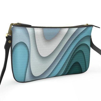 Pochette Double Zip Bag - Flowing Curves