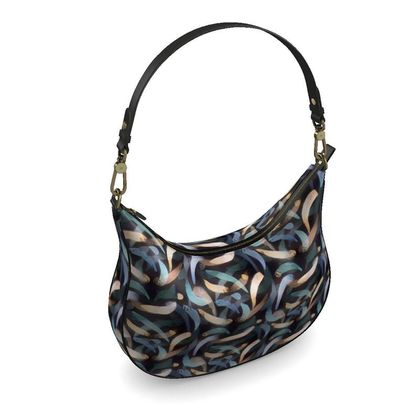 Curve Hobo Bag - Abstract Strokes