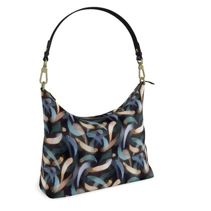 Square Hobo Bag - Abstract Strokes