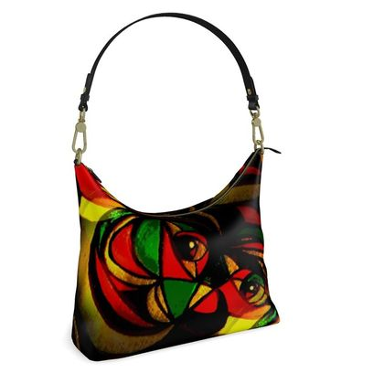 Square Hobo Bag -  My Abstract Cat
